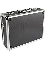 Ultimaxx Medium Aluminum Hard Case with Pre-Cut Foam for Travel and Storage of DSLRs, Gear, and Equipment for DSLR Camera Models from Canon, Nikon, Sony, Olympus, and More