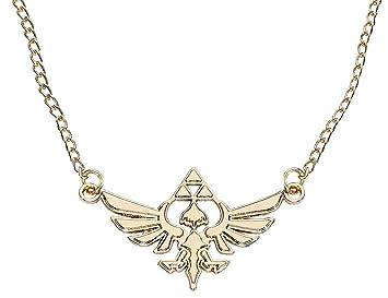 Zelda JE101317ZEL Nintendo Golden Necklace with Hyrule Metal Charm