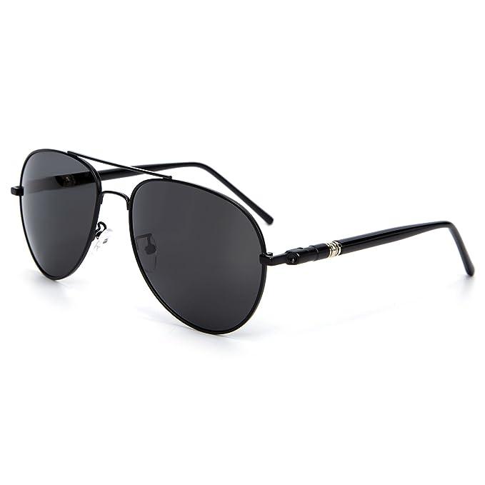 7cfdde95d7 YJMILL New Polarized Sunglasses Retro Pilots Riding Fishing Golf Travel  Sports Sunglasses Men 209 (black