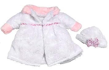 6b346dccf Amazon.es: Rosa Toys Abrigo Blanco niña 38-42 cm (Bolsa): Juguetes y juegos