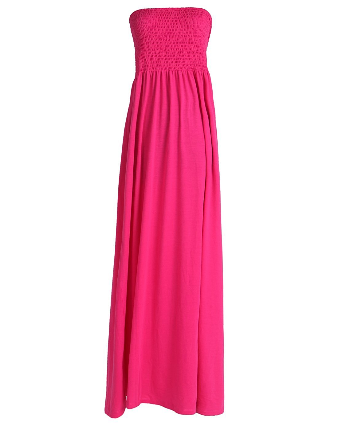 Tina Vent Beautiful Women\'s Strapless Dress Plus Size Tube Top Long Skirt  Sundress Cover Up (Small, Hot Pink)
