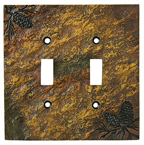 Big Sky Carvers 30170450 Pinecone Double Switch Plate by Big Sky Carvers ()