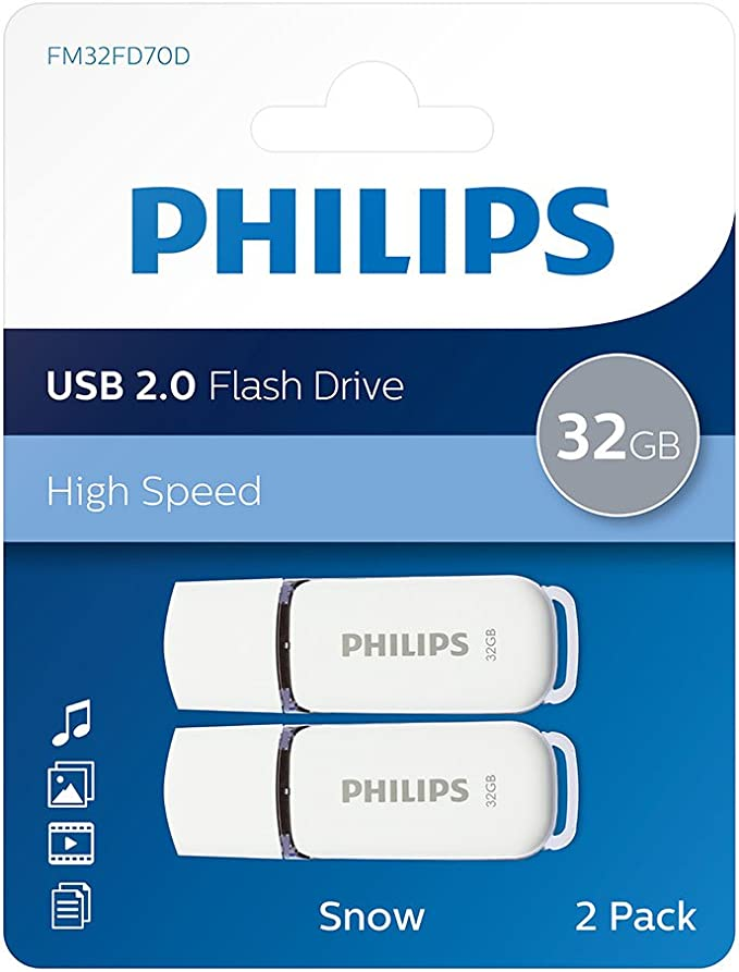 Philips Snow Series Usb 2 0 Flash Drive Memory Stick Super Value Twin Pack
