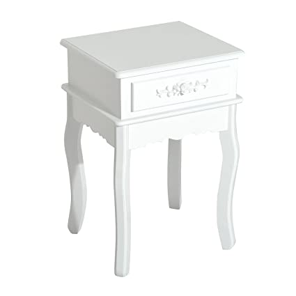 Merveilleux HOMCOM 24u0026quot; Wooden Country Cottage Style Accent Side End Table With  Storage Drawer