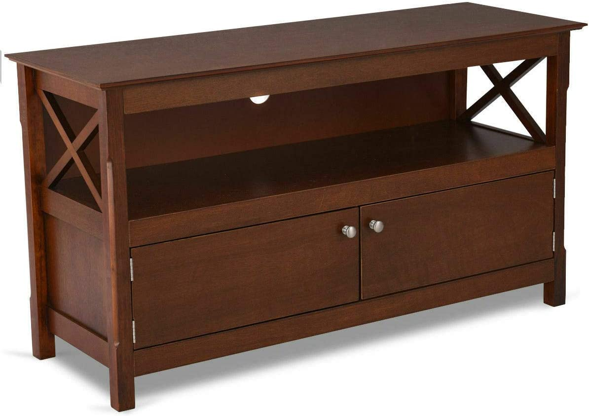 """TV Stand Console Wooden Storage Cabinet Shelf Media Center Television Stand 44"""""""