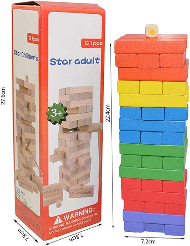 EDtara - Juego de 48 Piezas para Regalo de cumpleaños, diseño de Jenga, Juguete Interactivo para niños y Padres: Amazon.es: Hogar