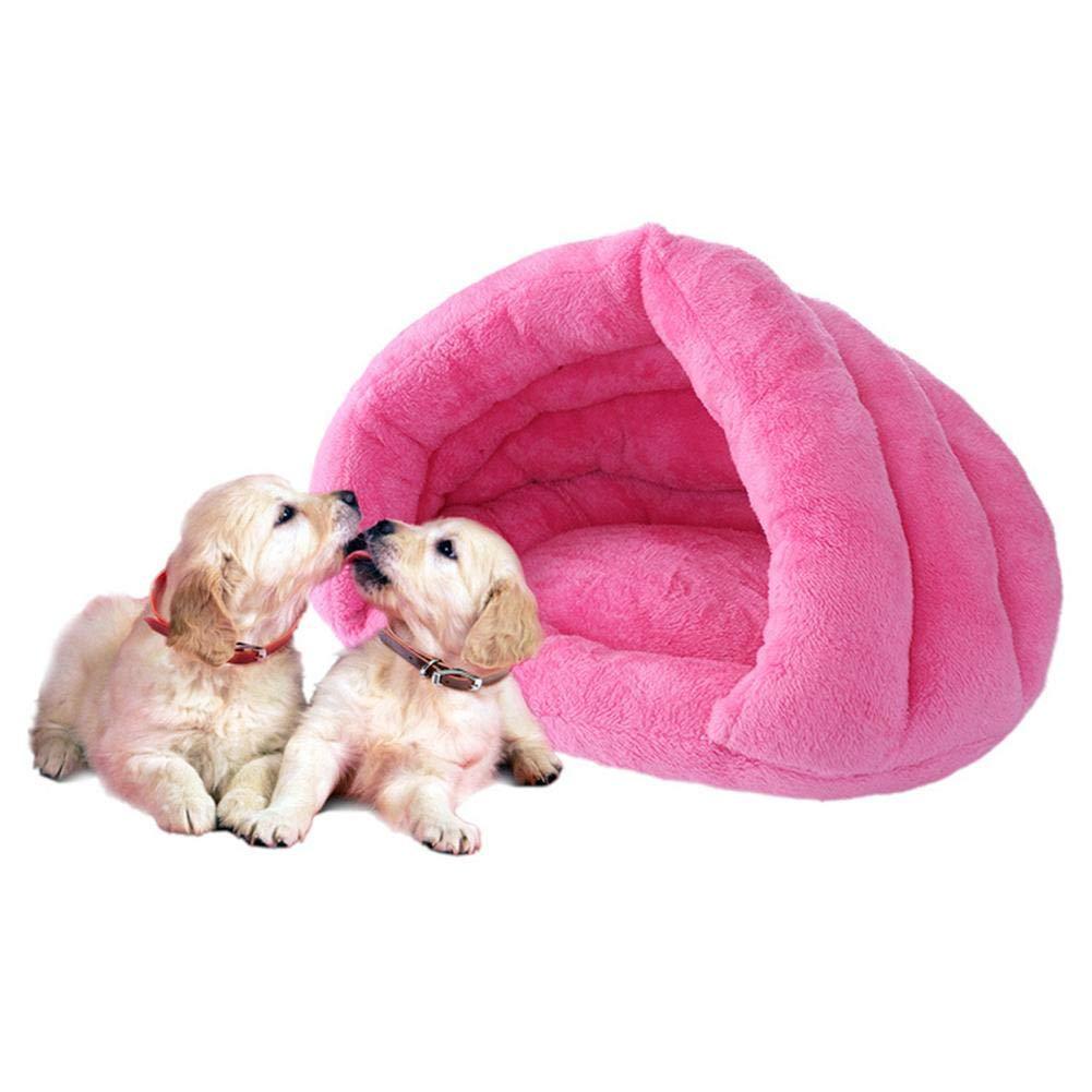 Ropa para Mascotas goodbene Pet Cat Dog Suave Nido Caliente Casa de la Perrera de la Cama del Saco de Dormir de la Estera de la Tienda de campaña (Rose L): ...