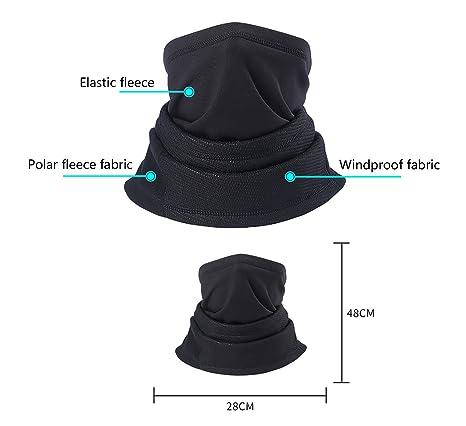 ad9b56a51b2 Tour de Cou Masque Echarpe pour Motards Unisexe Hiver Protection Nez  Bouches Oreilles Cou Chaud Respirant