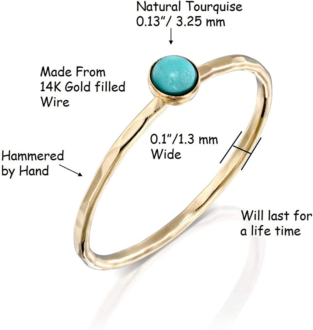 14k Gold filled circle ring Gold spiral ring Handmade by Adi Yesod
