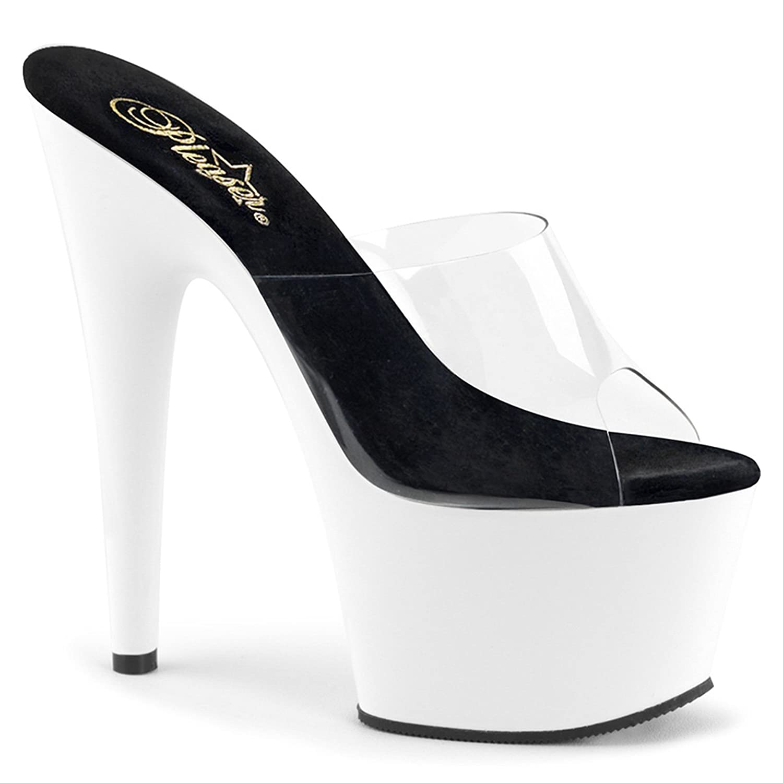 d0ad9071362 Amazon.com | Summitfashions Womens White High Heels Slide Sandals UV ...
