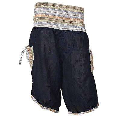 Haremshose Shorts Bermuda Jogginghose Sweathose Freizeithose Trainingshose  gesmokt Varkala Herren (Blau, Einheitsgröße)  Amazon.de  Bekleidung 232eb6d242