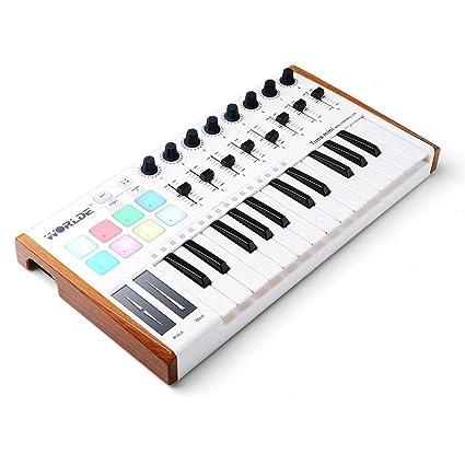 Vangoa - Controlador portátil de teclado de 25 teclas USB Tuna Mini MIDI para Mac y
