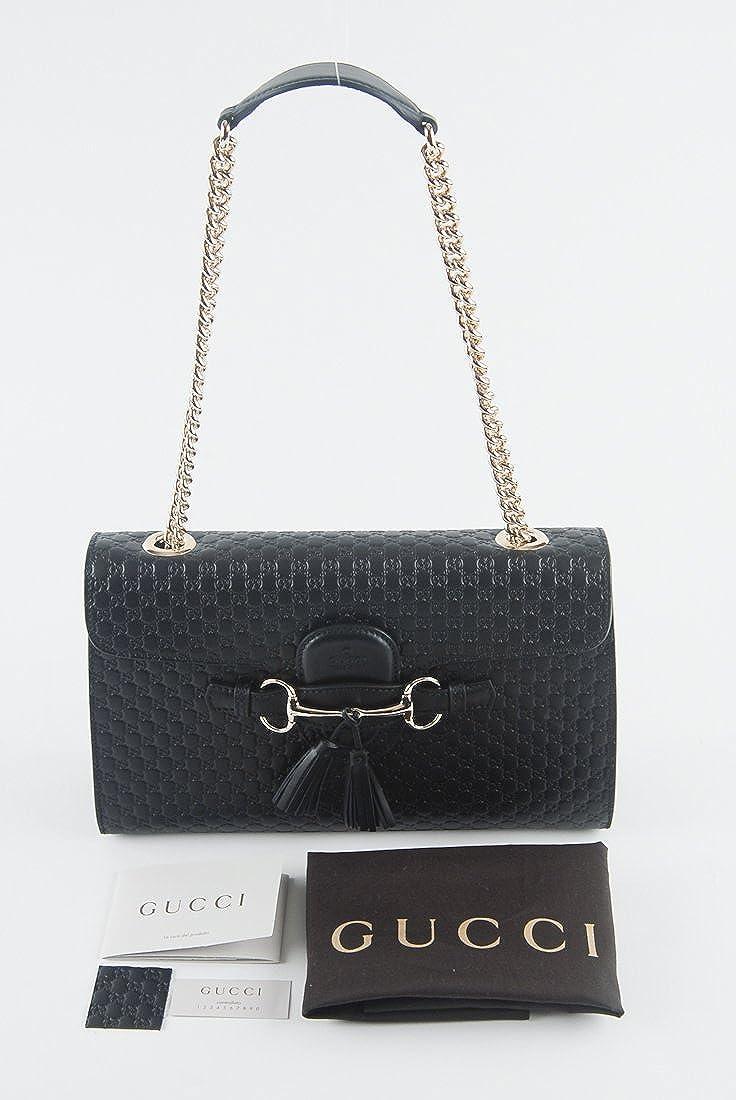 872d77efe630 Amazon.com: Gucci Women's Micro GG Guccissima Leather Emily Purse Handbag ( Black): Shoes