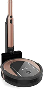 Shark ION Robot Vacuum Cleaning System S87 with Wi-Fi, Bonus Robot Dock & 8-ft. BotBoundry Strips, Rose Gold