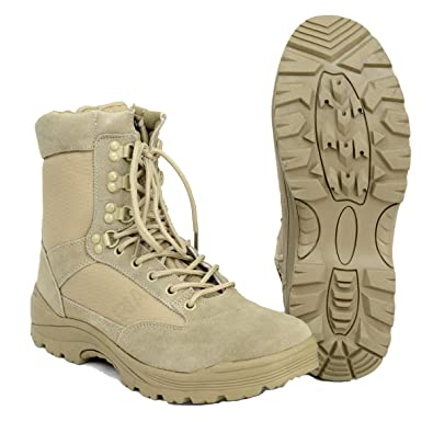 9fe0c2dc7e4 Mil-Tec Tactical Side Zip Boots Khaki size 8 UK / 9 US