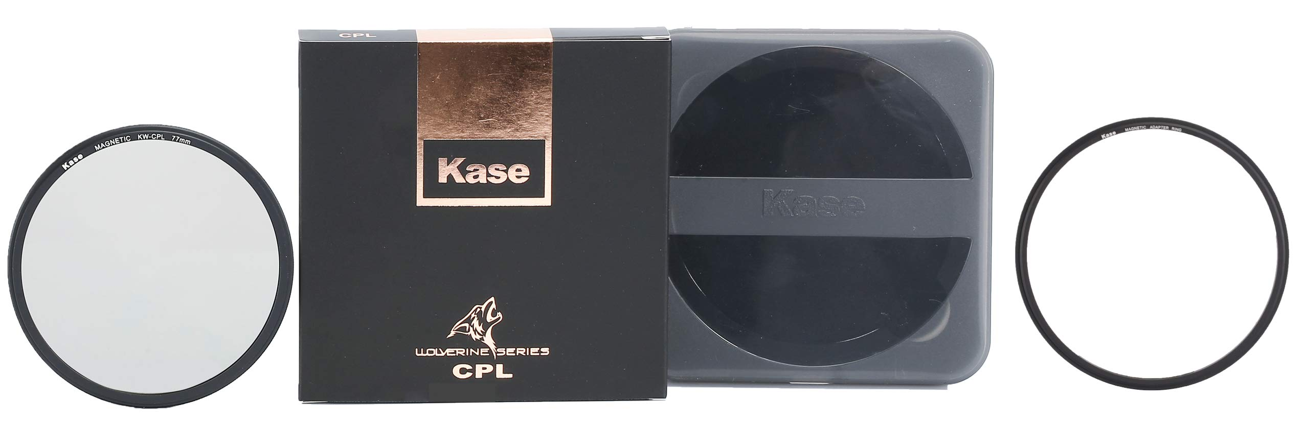 Kase Wolverine 77mm CPL Magnetic Shockproof Tempered Optical Glass Filter Incl Adapter 77 by Kase