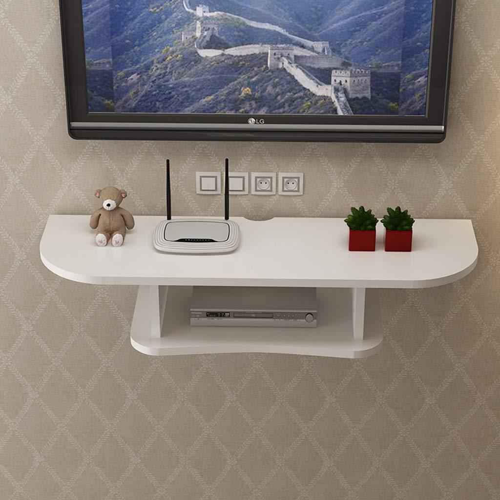 テレビの背景ウォールシェルフフローティングWifiルーターシェルフセットトップラック壁掛け収納ボックス衛星放送TVボックスシェルフ (色 : A, サイズ さいず : 120cm) B07QQLNMBF A 120cm