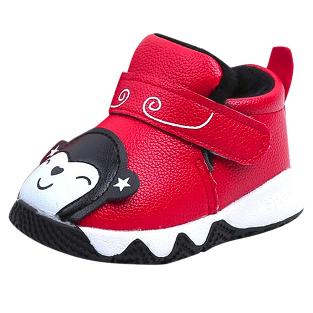 Kobay Baby Unisex Shoes, Baby Children Warm Girl Boys Cartoon Sneaker Sport Shoes Baby First Walker Shoe