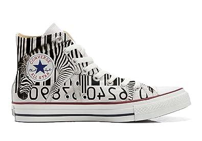 Converse Custom - personalisierte Schuhe (Handwerk Produkt) Zebra Barcode