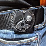 Mini Knife Magnetic Kydex Holster Carbon Edition