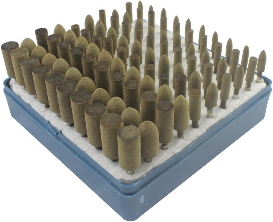 3mm Shank Cone Felt Wool Polishing Bob Point Burs Rotary Tool For Dremel 5~20Pcs