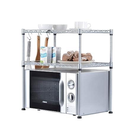 LYN Estante Horno de microondas Cocina Estante de Metal de 2 ...