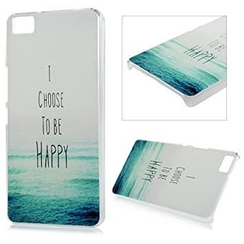BQ Aquaris M5 Funda, Lanveni Carcasa Rígida PC Plástico Super Fit Ultrafina para BQ Aquaris M5 Transparente Protective Case - Diseño de I Choose to be ...