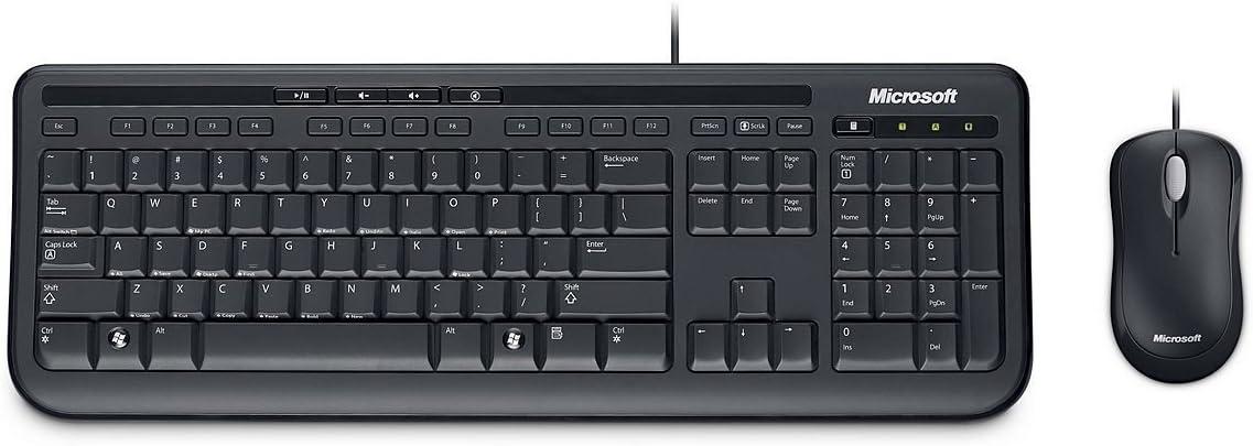 Microsoft Wired Desktop 600 Tastatur Und Maus Set Elektronik