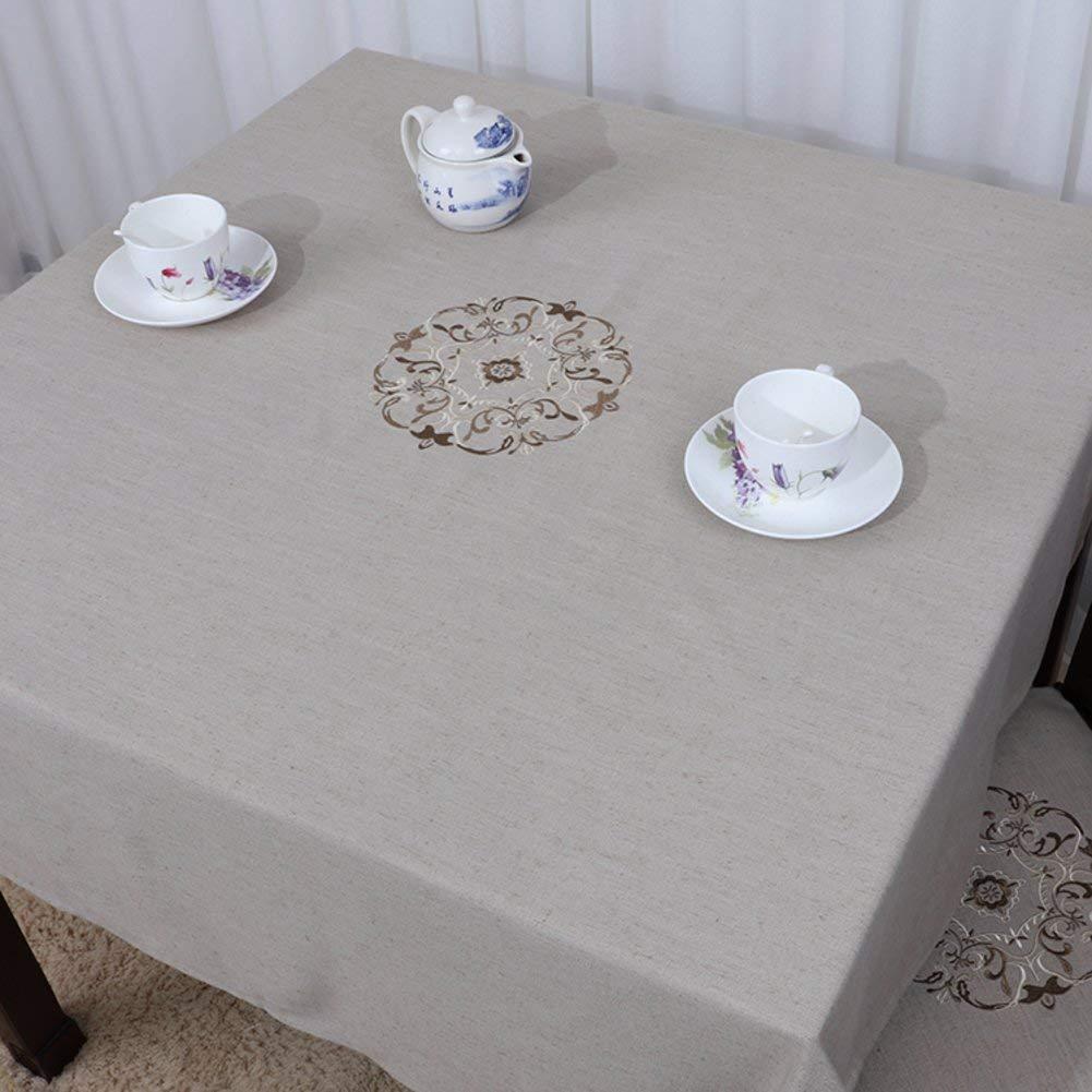 Shuangdeng 田舎のテーブルクロスファブリックTableclothTeaテーブルクロスデスクデスククロス (Color : I, サイズ : 110x110cm(43x43inch))   B07RRWGVG4