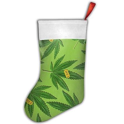 DingLing precio de Weed personalizado para fiestas de Navidad regalos calcetines calcetín de Papá Noel calcetines