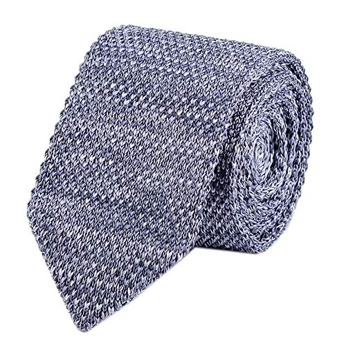 Tall Mens Grey Tweed Knit Tie New Formal Party Wedding Prom Necktie for Men Silk