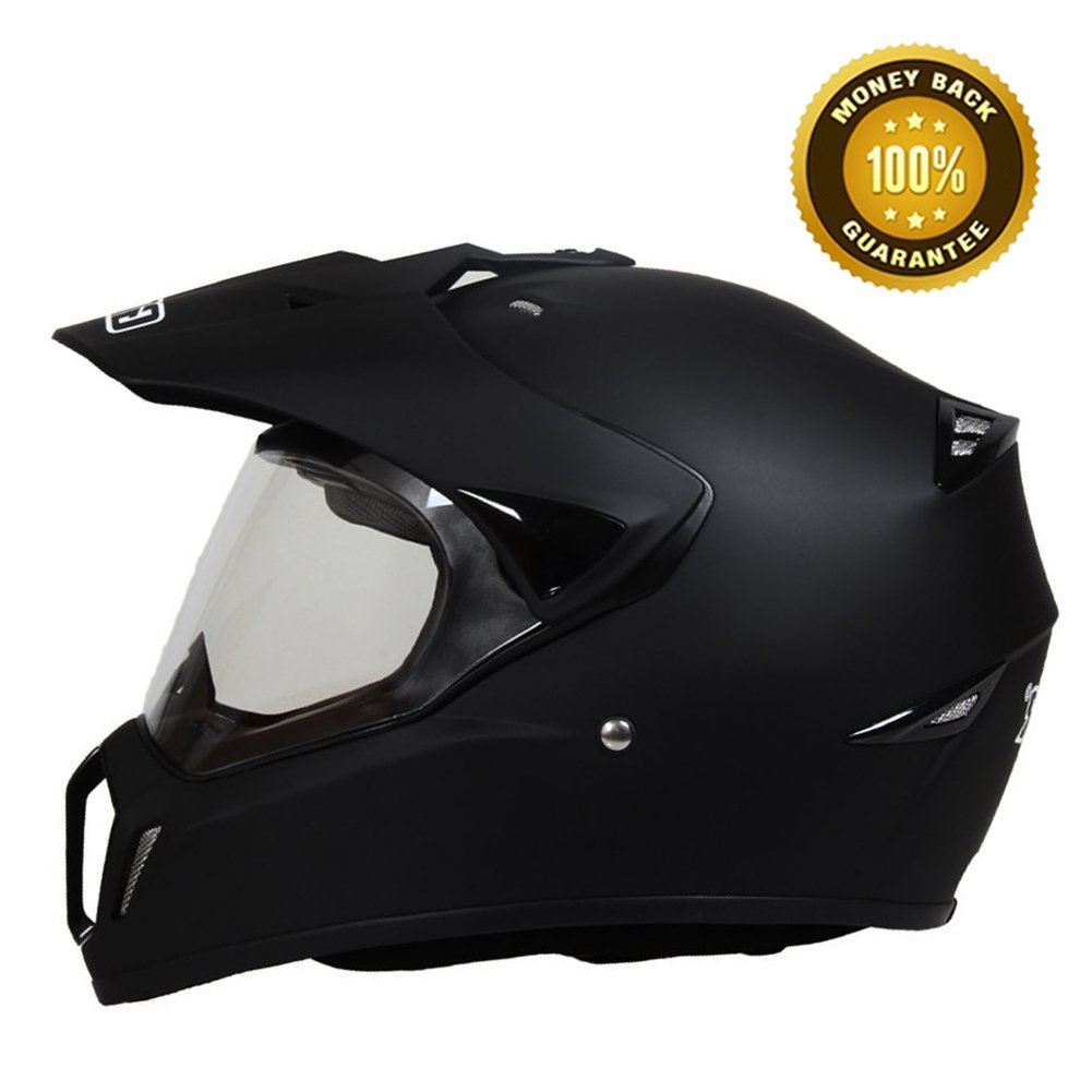 A.B Crew DOT Motorcycle Helmet Flip Up Shield Dirt Bike Helmet Off Road Helmets Motocross Helmet