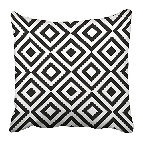 Emvency Throw Pillow Covers 20 x 20 Inches Black Zebra Animal Abstract Monochrome White Safari Leopard Zoo Stripes Camouflage Pillow Case Decorative Cushion Cover Two Sides Print (Silver Zebra Cover)