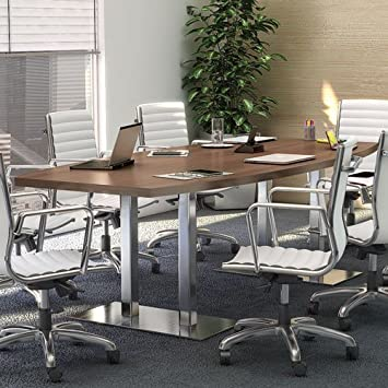 Amazoncom Modern Conference Table With Metal Bases - Conference table power and data modules
