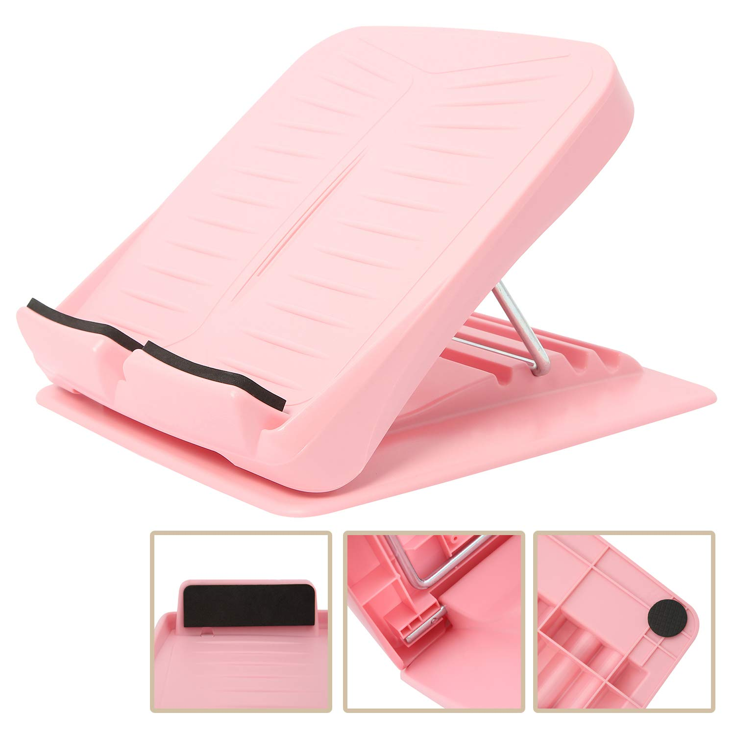 Leg Calves Muscle Exercise Achilles YaeGarden Portable Adjustable Slant Board Calf Stretcher Incline Stretching Board Ankle Therapy Stretch Wedge 5 Position Non-Slip Design for Hamstring Pink
