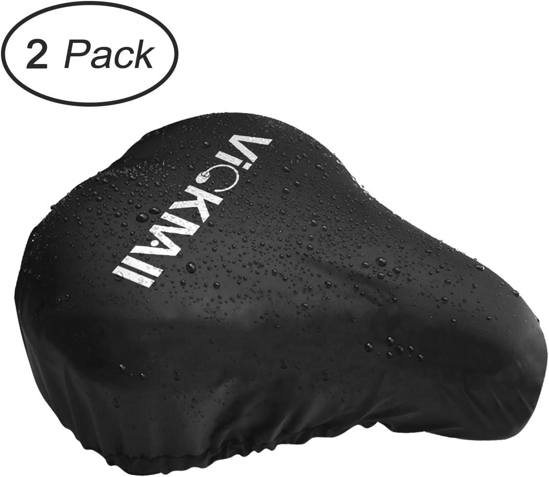 2x Fahrrad Sattel Abdeckung Wasserdichte Sitzbezug Schwarz Sitz Schutz