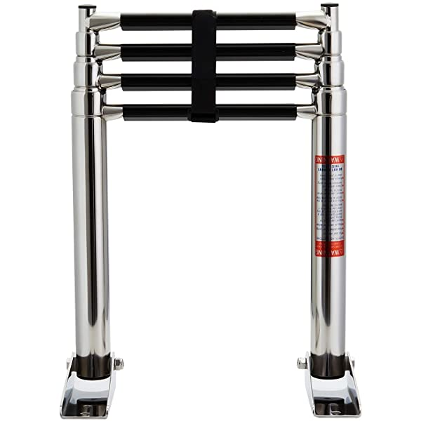 4 Step Telescoping Swim Marine Boat Ladder Stainless 304 with Built in Handle