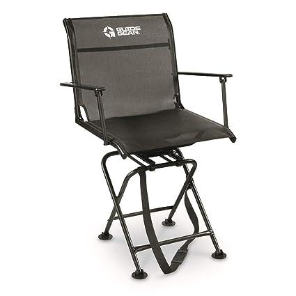 Amazon.com : Guide Gear Big Boy Comfort Swivel Hunting Blind Chair ...