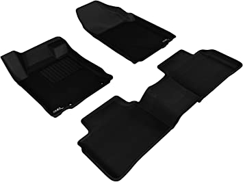 Amazon Com 3d Maxpider All Weather Floor Mats For Nissan Altima 2013 2015 Sdn Custom Fit Car Floor Liners Kagu Series 1st 2nd Row Black Automotive