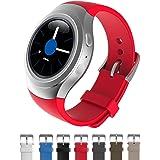 Dokpav® Samsung Gear S2 Orologio Cinturino Cinghia Watch Band Silicone Matt Sportivo Sports Ricambi - Colore Rosso