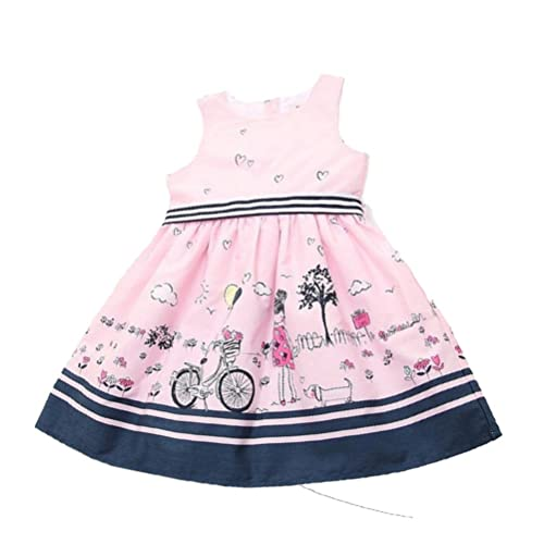 Internet Girls Clothes, Girls Cute White Cartoon Princess Dress For 2-7 Years Old
