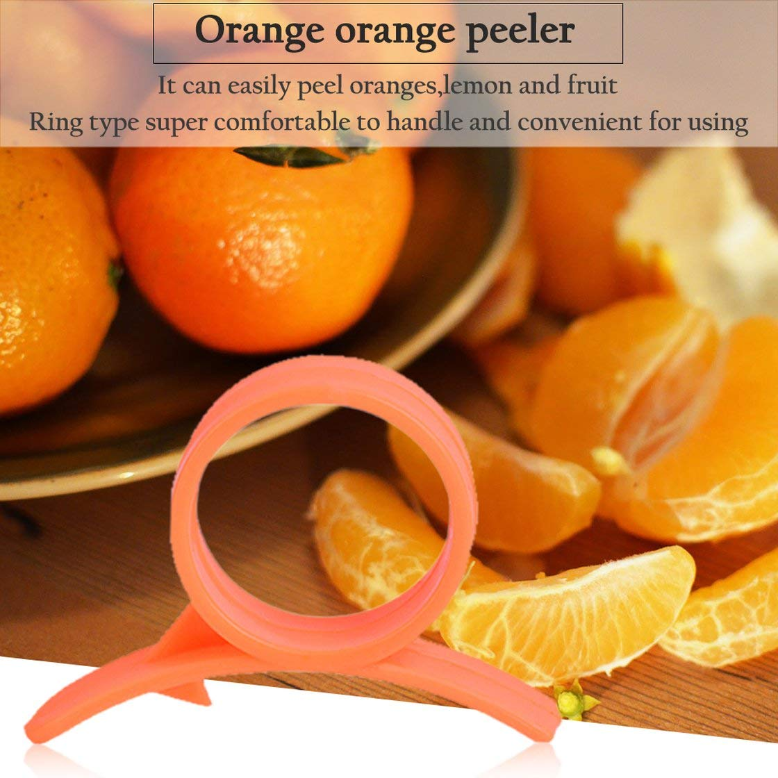 Pr/áctico Pelador de Naranja C/ómoda Cortadora de Frutas de Lim/ón Tipo de Anillo Dispositivo de Naranja Abierto Inteligente Novela Herramienta de Cocina