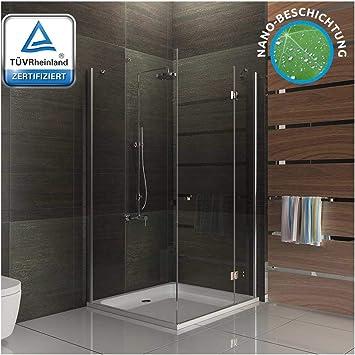 Vidrio de seguridad de ducha mampara de ducha con cuadrado 90 x ...