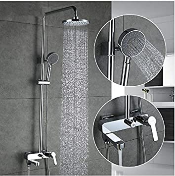 Gowe Bad Dusche Armaturen Set Badewanne Mischbatterie Wasserhahn Bad ...