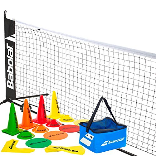 Babolat Kid's Home Tennis Starter Kit - USTA Approved 10 and Under Tennis - Game 18' Cones