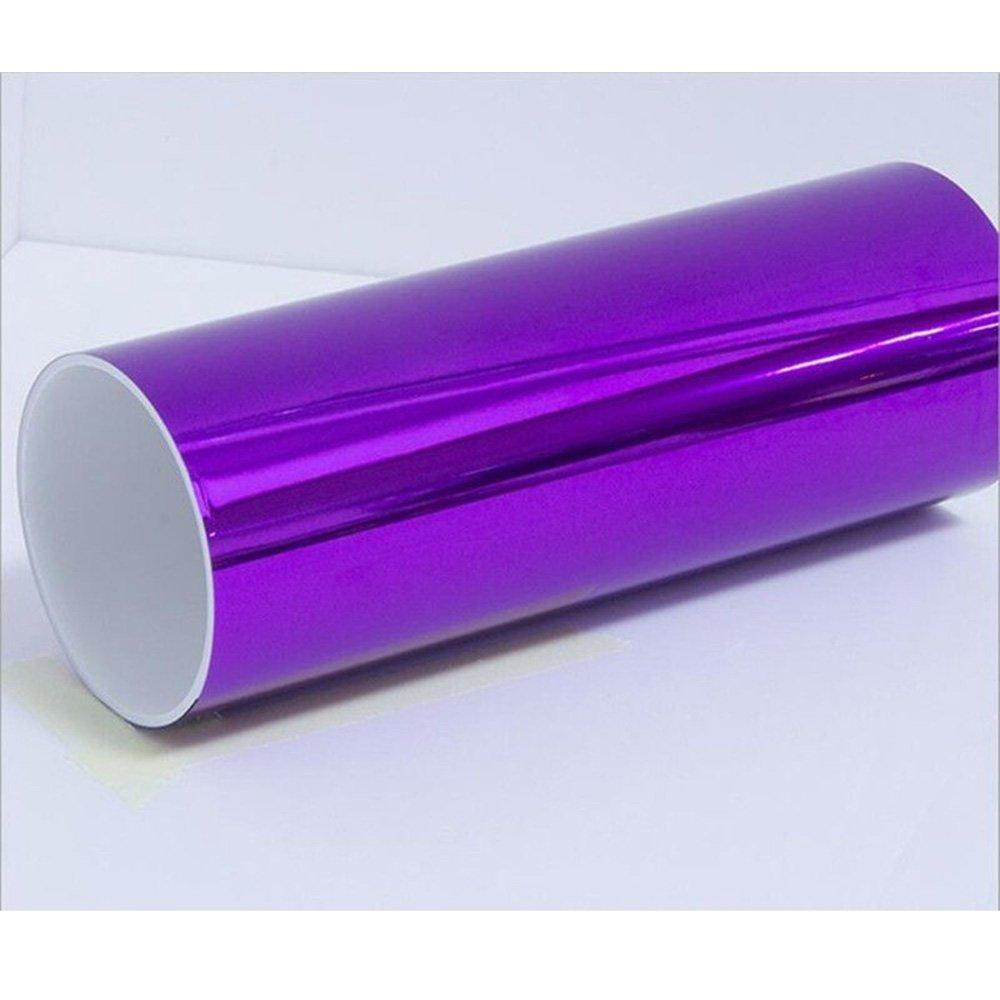HOHO Purple Change Color Chrome Metalic Vinyl Film Sticker Wrap Car 60''x33ft