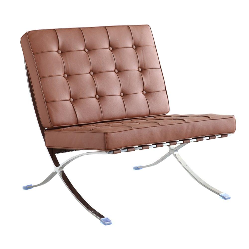 Amazon.com: Moderno y Contemporáneo Accent silla, café, piel ...