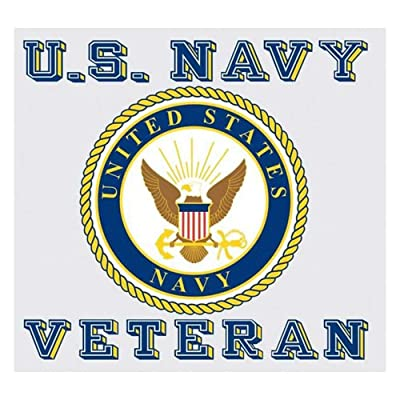 United States Navy Veteran Car Decal US Navy Gifts Military Products: Clothing