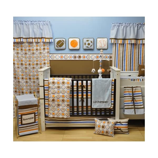 Bacati Mod Sports 11 Piece Crib Set