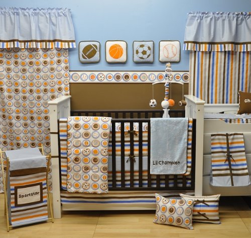 Bacati Mod Sports 11 Piece Crib Set (11 Piece Furniture)
